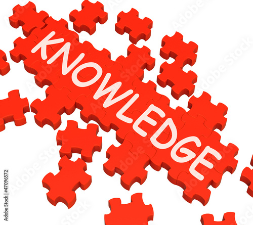 Knowledge Puzzle Showing Intelligence And Wisdom