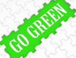 Go Green Puzzle Shows Eco Friendly Activities