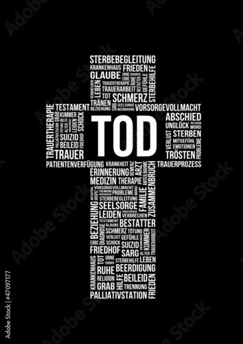 Suchbegriffe Tod - Tagcloud