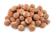 Heap of hazelnut isolated on white background