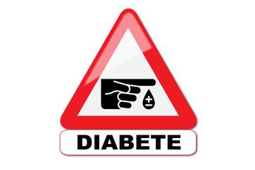 Panneau attention diabète