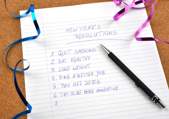 New Year's resolutions and ribbons