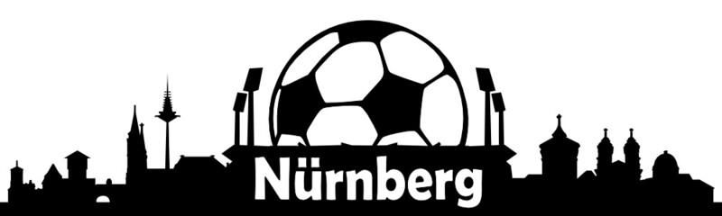 Nürnberg Skyline Fussball