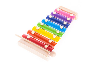 Colorful child wooden xylophone