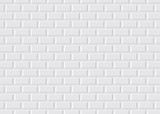 Carrelage blanc metro - 47099765