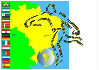 Südamerika - Land des Fußball - Brasilien