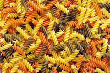 pile of colorful noodle