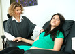 pregnant woman and her therapist