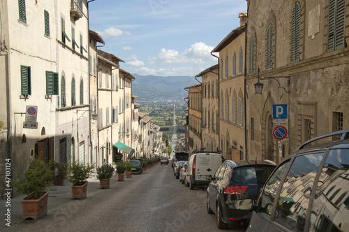 Long road through an Italian village