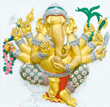 God of success 9 of 32 posture. Indian or Hindu God Ganesha avat