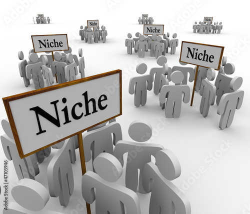 Many Niche Groups People Clustered Around Niches Signs