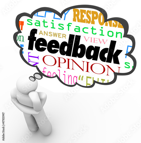 Feedback Thought Cloud Thinker Review Opinion Comment