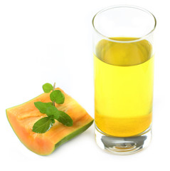 Papaya Juice with fresh mint leaves