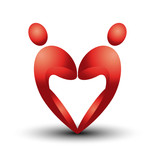 Heart figures logo vector eps10