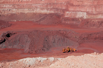 Open-pit iron ore mine