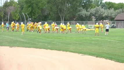 Football Team Practicing