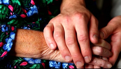 Elderly hands.