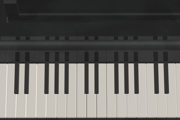 Keys on the piano