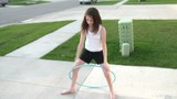 Girl Hula Hooping