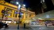 Evening traffic near Grand Central, timelapse, New York