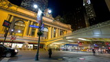 Evening traffic near Grand Central, timelapse, New York