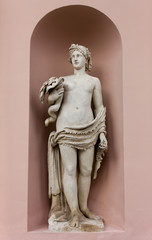Neoclassic Marble Statue in its Niche