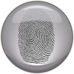 Fingerabdruck auf Button