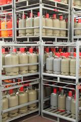 Gasflaschen im Hochformat