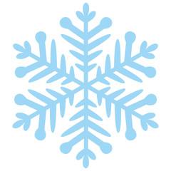 Schneeflocke blau auf weiß
