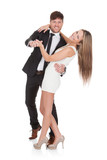 Fototapety Young elegant couple dancing