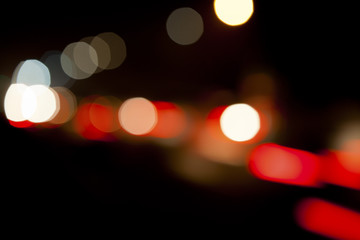 Abstract, car light trails
