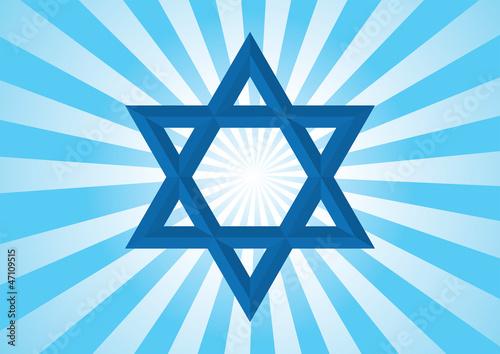 Star of David. - Halo Background