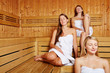 Entspannung in der Damensauna