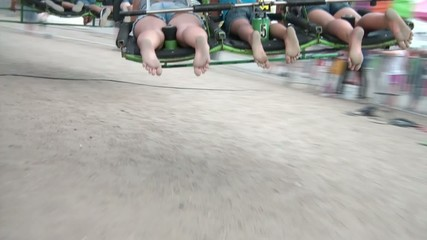 Dirty Feet - Hang Gliding Ride at Fair