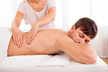 Man having a back massage