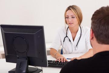 Physician explains the procedure