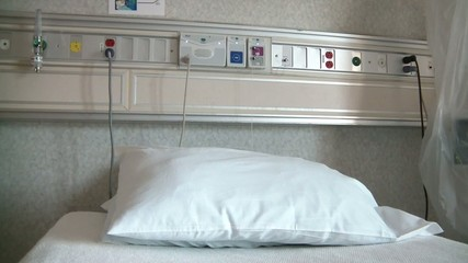 Hospital Bed with Wall Controls