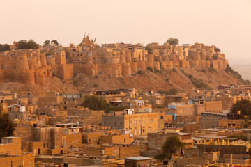 Panorama of the Golden Fort of Jaisalmer, Rajasthan