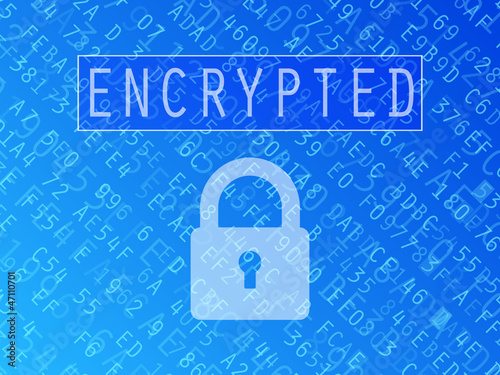 Encrypted Data Background