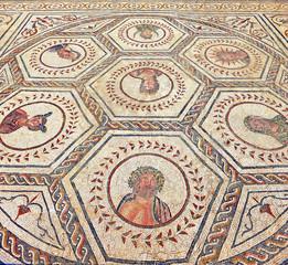 Mosaico romano del Planetario, ruinas de Itálica, Sevilla
