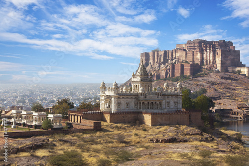 Mehrangarh Fort and Jaswant Thada mausoleum