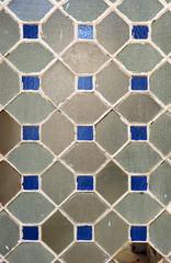 puerta de cristal, textura de vidrios de colres