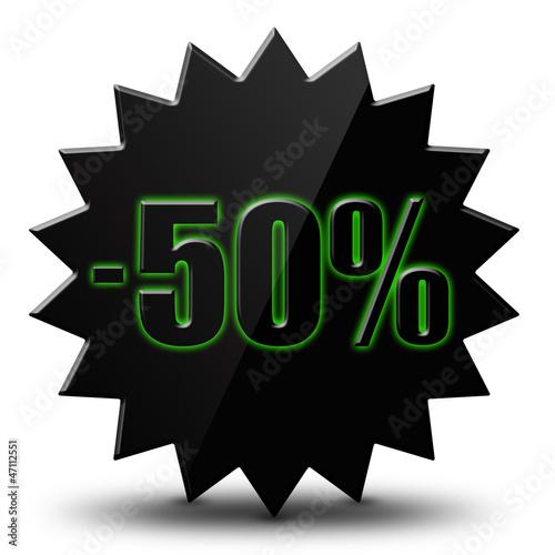 "Icône soldes  "" - 50% """