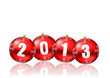 2013 new year vector card with christmas balls