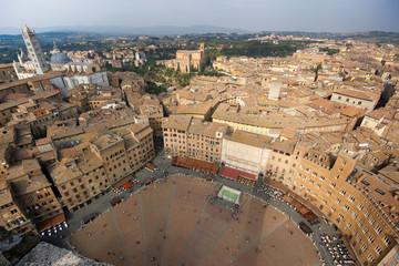Siena, Piazza del Campo dall'alto
