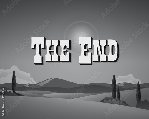 Movie ending still - Editable Vector.