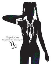 Stylizowany znak zodiaku Koziorożec