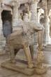 Chaumukha Mandir - elephant carving, Ranakpur