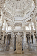 Elephant carving in a Jain temple, Ranakpur