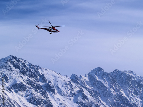 Rescue Helicopter, Tatra Mountains, Poland
